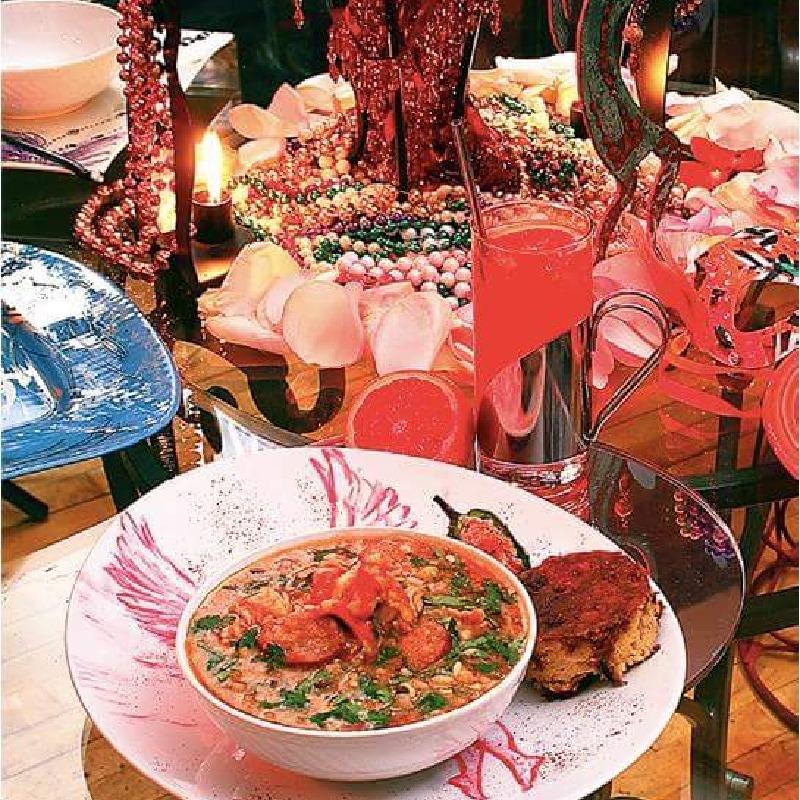 Seafood Gumbo and Cornbread