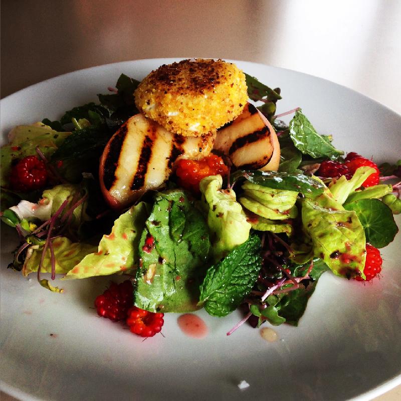 Seasonal Fruit Salad w/goat cheese crouton
