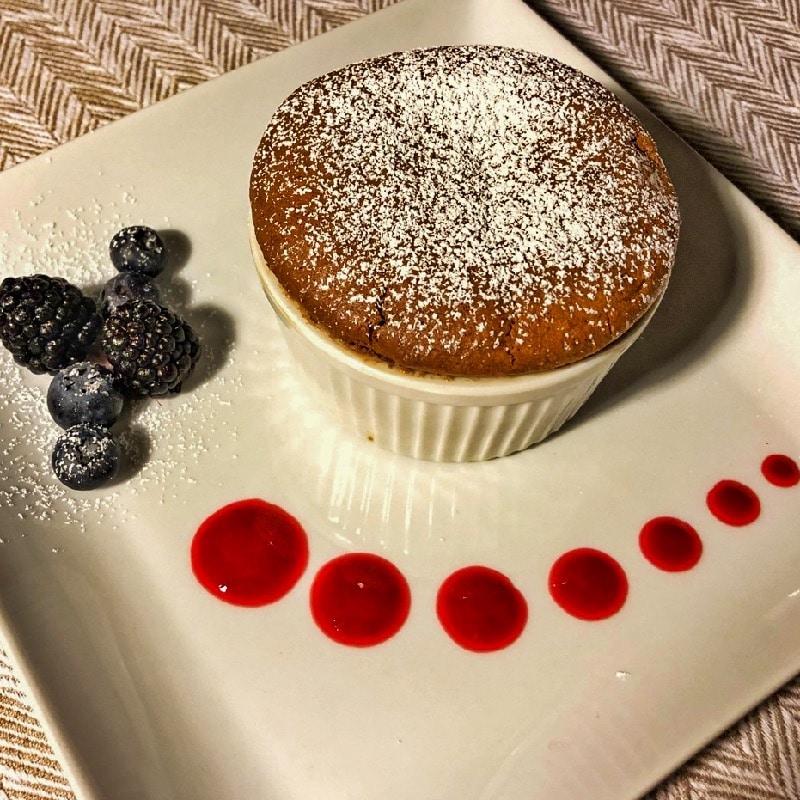 Valrhona chocolate souffle