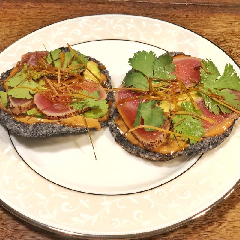 Mexican Tuna Tostada