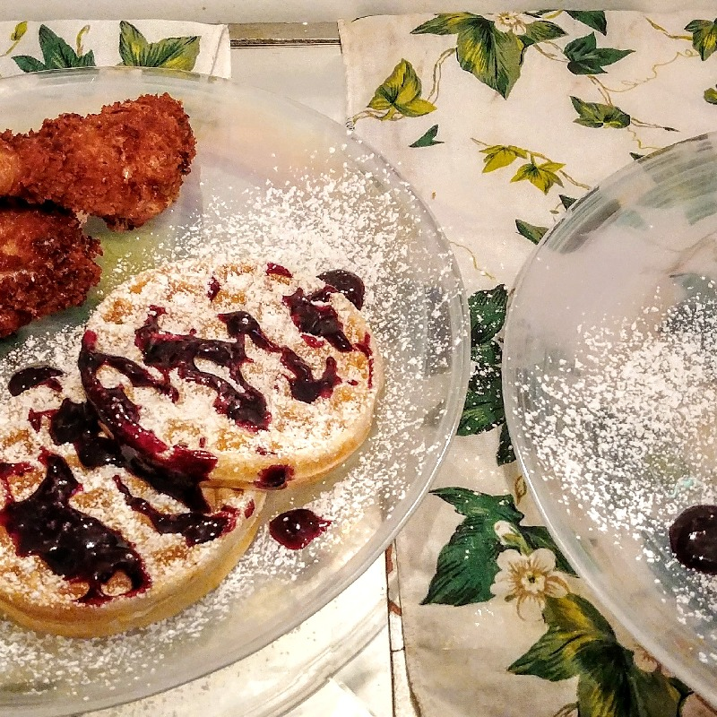 Chicken and Lemon Ricotta Waffles