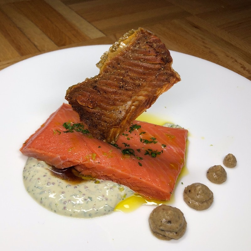 Salmon Mi-Cuit