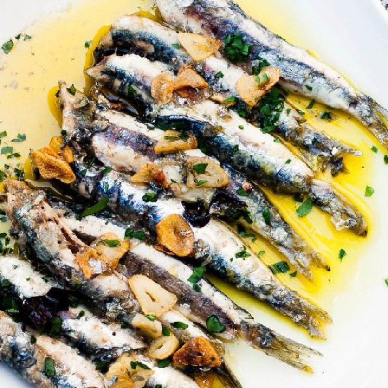 Basque fried anchovies