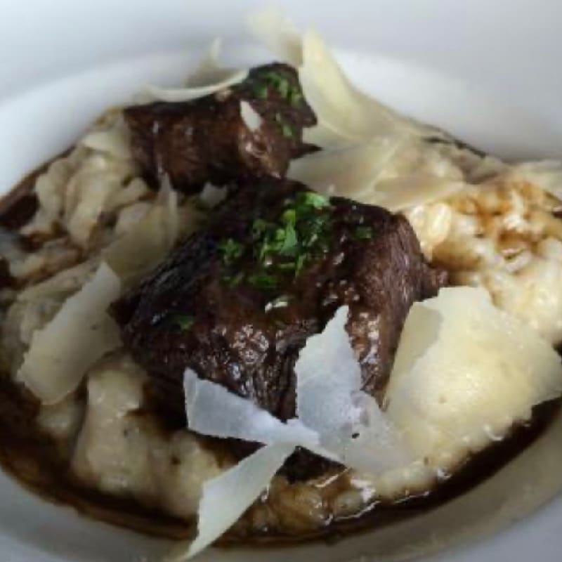 Red Wine Braised Short Ribs with Risotto
