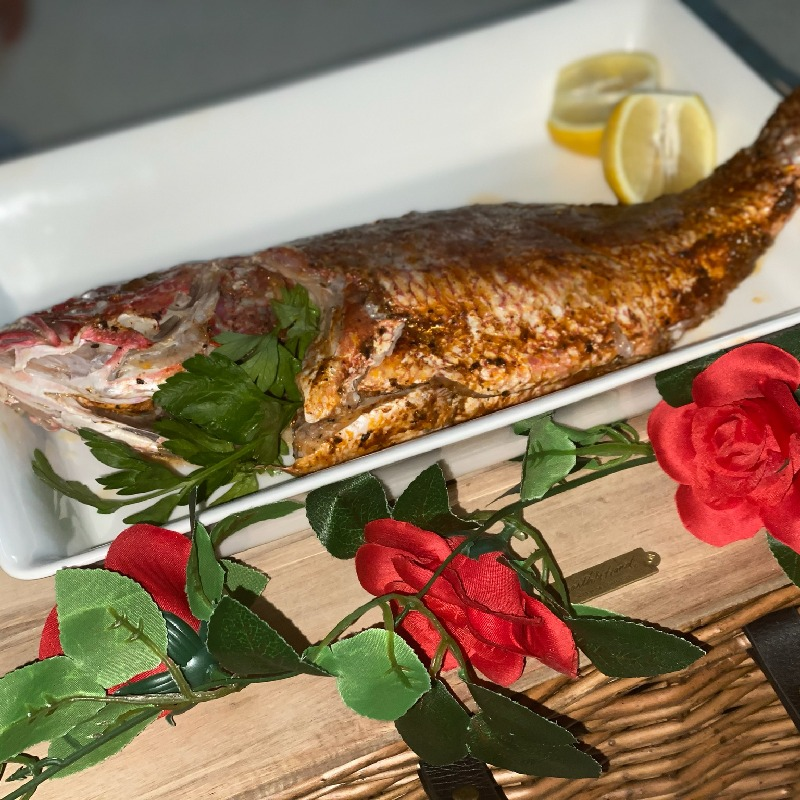 Whole Red Snapper cooked in Parchment