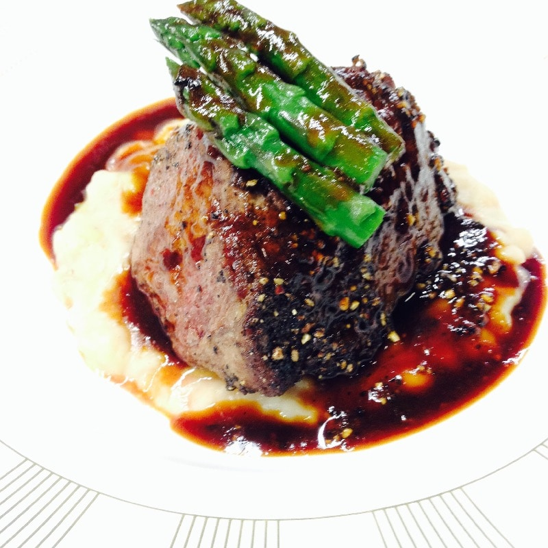 Filet mignon mashed asparagus