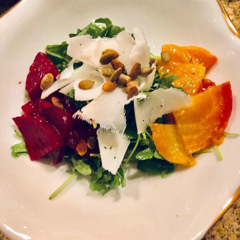 Roasted Beet salad, shaved manchego