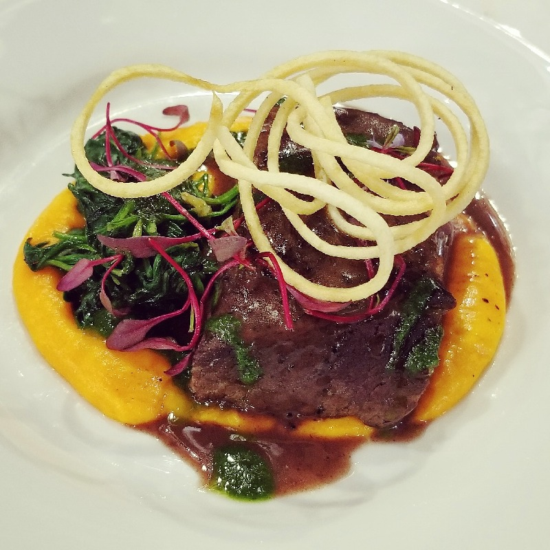 Braised Shortrib with Carrot Puree