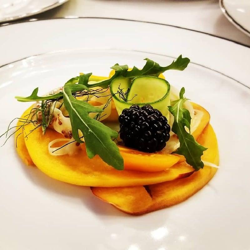Stone Fruit Salad, Pickled Fennel, Blackberry