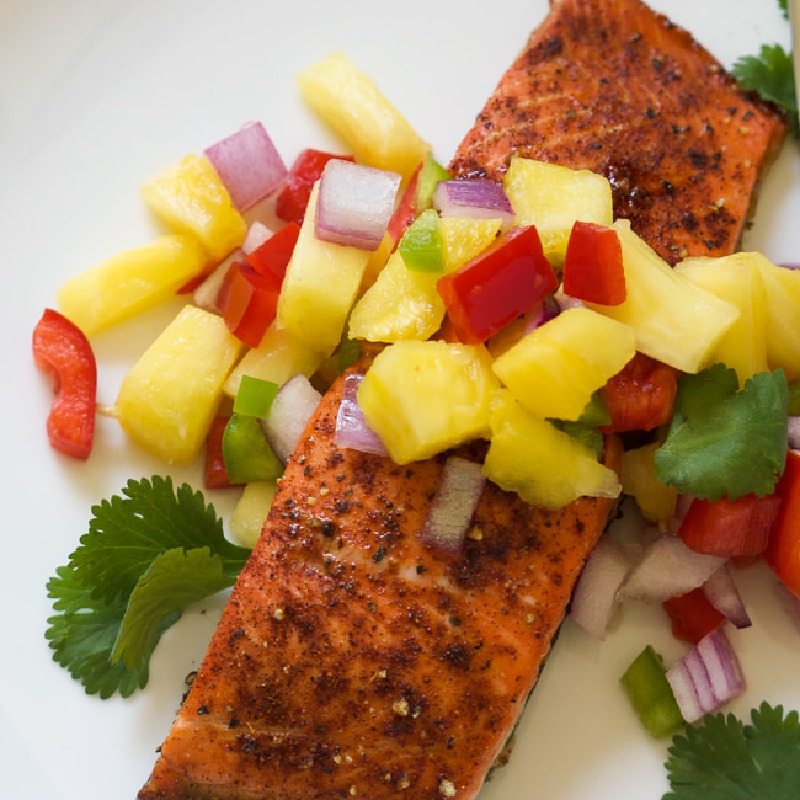 PINEAPPLE SWEET CHILI SALMON