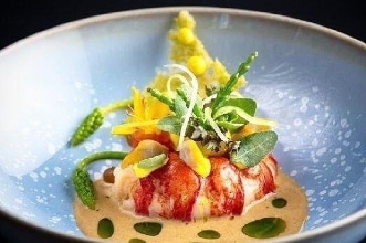 Poached Lobster by Private Chef Adam on Table at Home